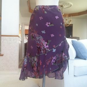 Studio M Dresses & Skirts - Purple silk flower skirt.
