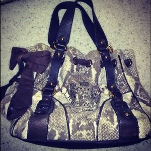 Juicy Couture python day dreamer velour tote.