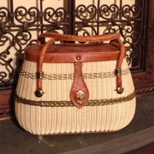 Vintage Handbags - Bundle for @MarieKai: Straw Basket Purse + Vest