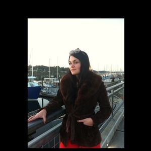 ***vintage dark brown jacket***