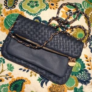 Deux Lux Handbags - Teal Fold-over Handbag/Clutch