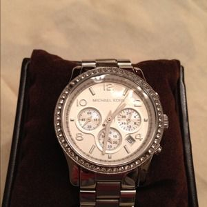Michael Kors oversized watch w/ crystal detail
