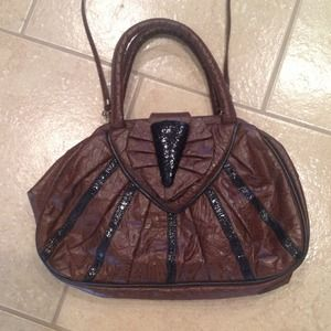 Handbags - Purse brown and blk