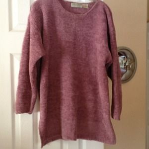 Sweaters - Dusty pink chenille sweater
