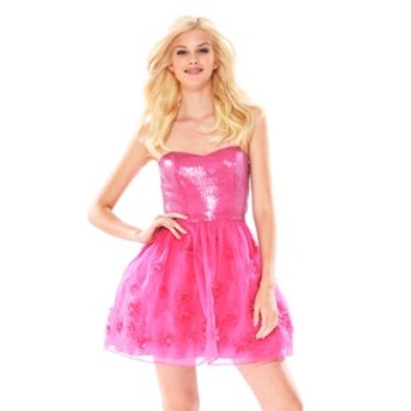 Betsey Johnson Dresses | Fuchsia Snow Princess Prom Dress | Poshmark