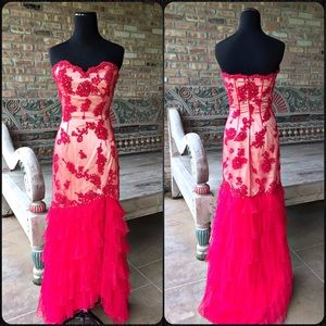 Jovani Dresses & Skirts - Red Jovani Sweetheart Cut Formal Gown