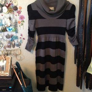 BRAND NEW body con striped sweater dresses!