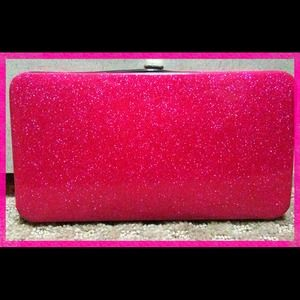 Clutches & Wallets - Sparkle hot pink clutch wallet