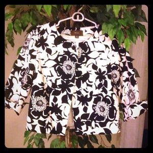 Jackets & Blazers - Black and White floral jacket