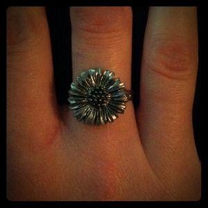 Handmade Silver Daisy Ring
