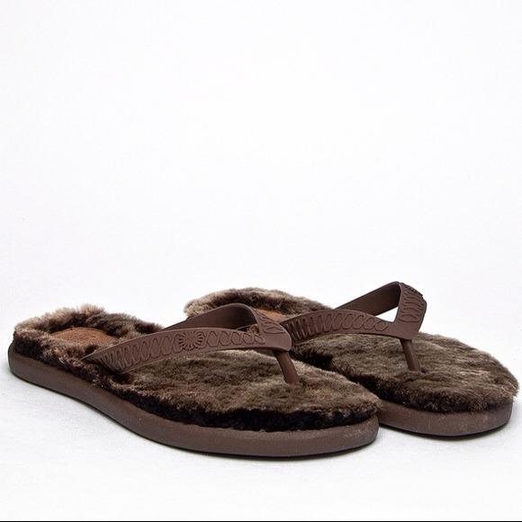 60 Off Ugg Shoes - Ugg Australia Fluffy Chocolate Flip -8203
