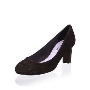 Delman Shoes - Delman Marli Pump in Dark Brown