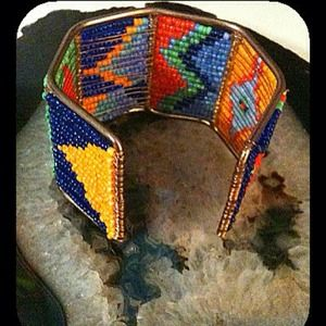 Jewelry - Unique beaded design cuff bracelet