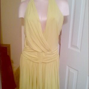 Bcbg Grecian style dress in green size large