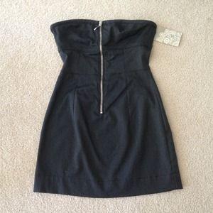 Zara strapless zipper dress