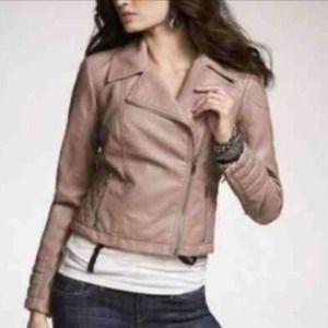 "Express Jackets & Coats - Pink ""minus the leather"" Express jacket."