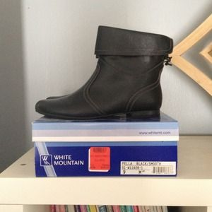 Black, size 9, booties, never worn with box.
