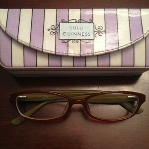 Lulu Guinness tan women's eyeglasses