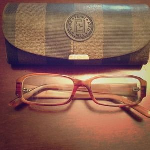 Fendi women's brown eyeglasses