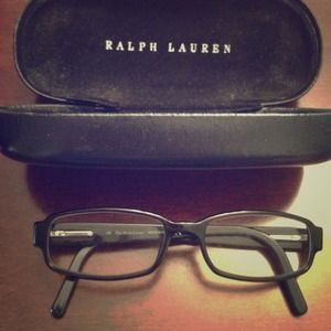 Ralph Lauren unisex eyeglasses in black