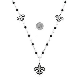 Jewelry - Beaded Fleur De Lis Fashion Necklace