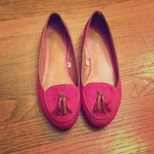Shoes - Hot Pink Loafers