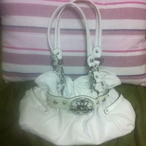 Handbags - Kathy van Zealand white handbag