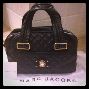 Marc Jacobs Quilted Bowler Leather Bag Purse