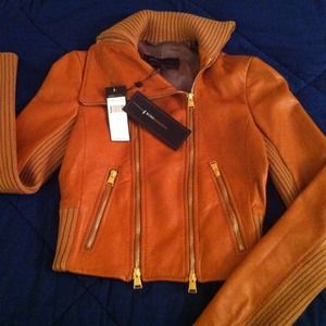 **HP x 2!** NWT BCBG Max Azria leather jacket