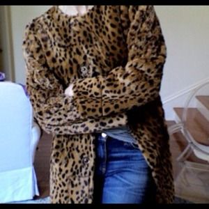 Leopard Reversible Coat Worn Once!