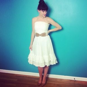 Twirl-able White Sun & Party Dress