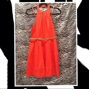 Jessica Simpson-Tangerine dress