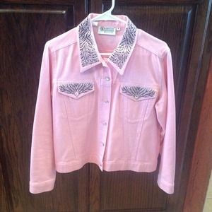 Denim - Pink denim jacket bundled
