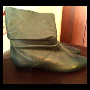 Aldo Teal Leather Bootie