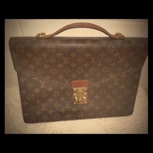 Authentic Louis Vuitton slim briefcase
