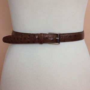 Real ostrich skin/ leather belt