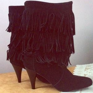 Chinese Laundry boots with fringe details