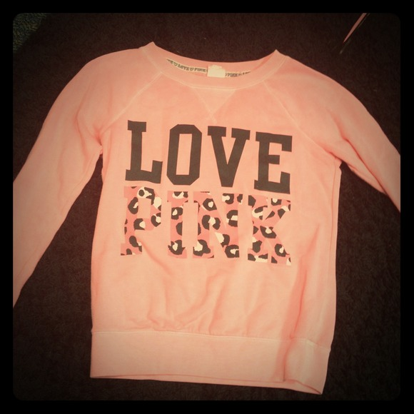 60% off Victoria's Secret Sweaters - RESERVED Coral and cheetah ...