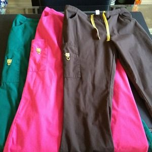 Bundle (3 pair) of Scrub Pants Sz Large-Petite!!