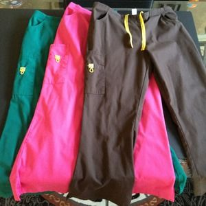 Pants - Bundle (3 pair) of Scrub Pants Sz Large-Petite!!