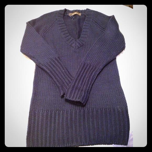 91b2d1678fb Zara navy blue sweater dress tunic. M 5123fad8e4ebea0c5f00e335