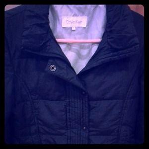 Calvin Klein black jacket.