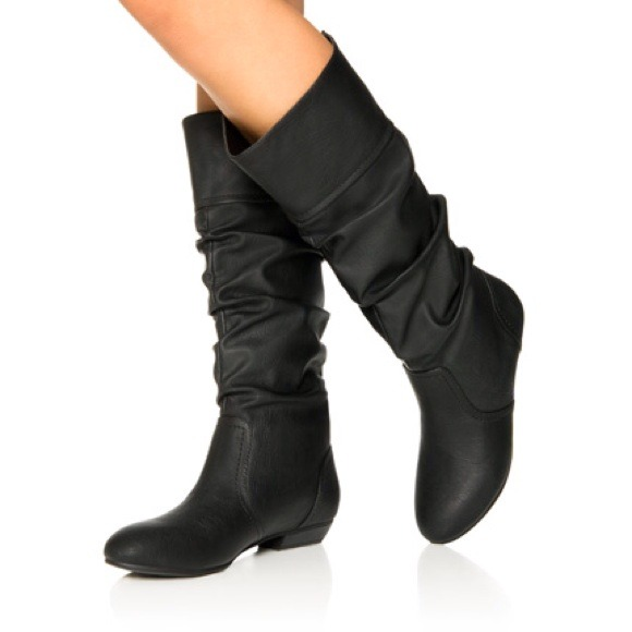 JustFab Shoes - Black Syndal Tall Boots + Bundled 1 item