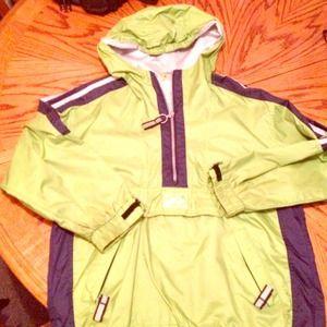 Jackets & Blazers - Lime green navy &gray windbreaker running pullover