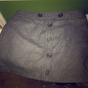 Wool gap mini skirt