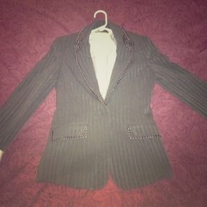 Gray Blazer with silver detail
