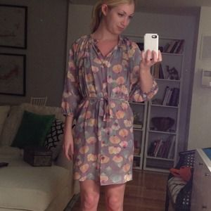 Classic Printed Shirt Dress