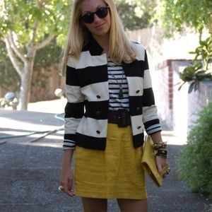 Striped jacket and cardi