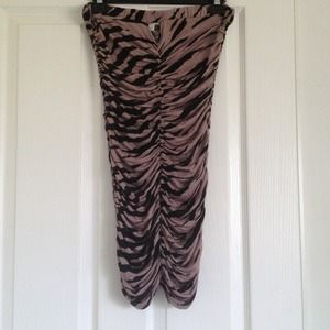 street fifteen  Dresses & Skirts - Tan Zebra Dress