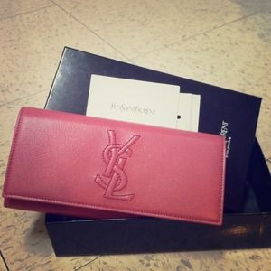 YSL pink long wallet portefuille fam *authentic*